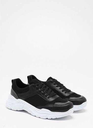 F By Fabrika Fabrika Sentetik Yüksek N Renk Mason Erkek Sneaker Siyah